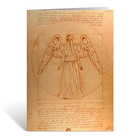 Weeping Angel - Da Vinci Greeting Card