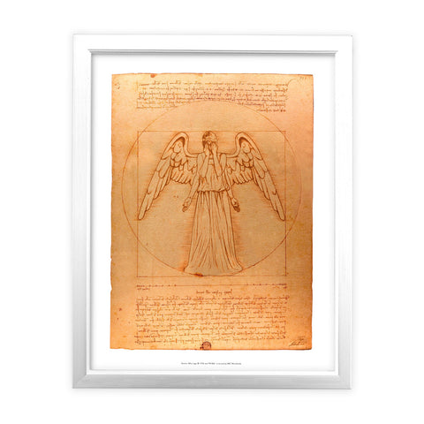 Weeping Angel - Da Vinci White Framed Art Print