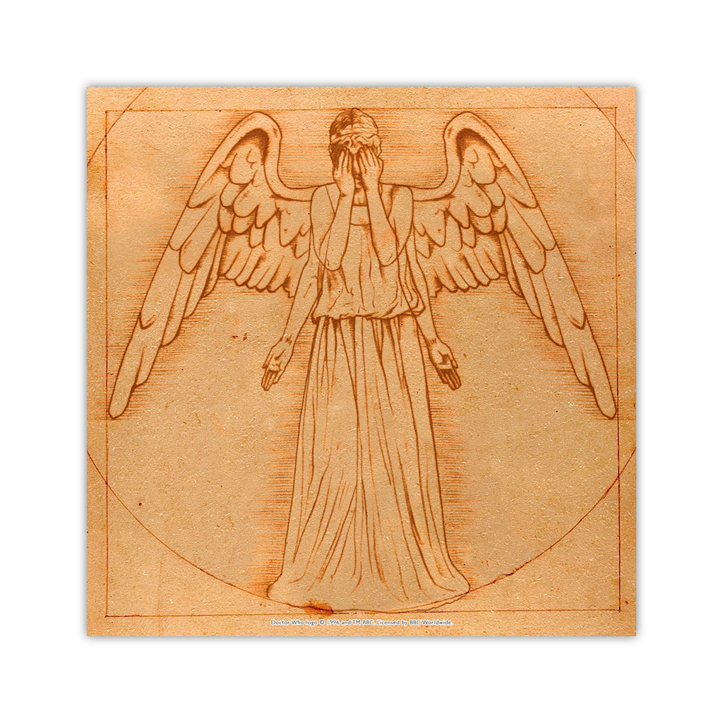 Weeping Angel - Da Vinci Square Art Print