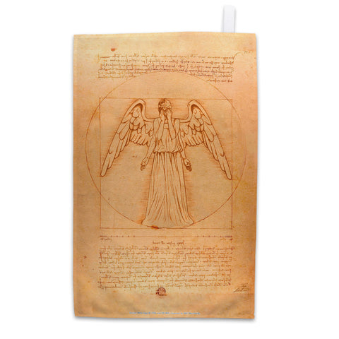 Weeping Angel - Da Vinci Tea Towel