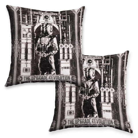 Cyberman 'THE UPGRADE REVOLUTION' Cushion