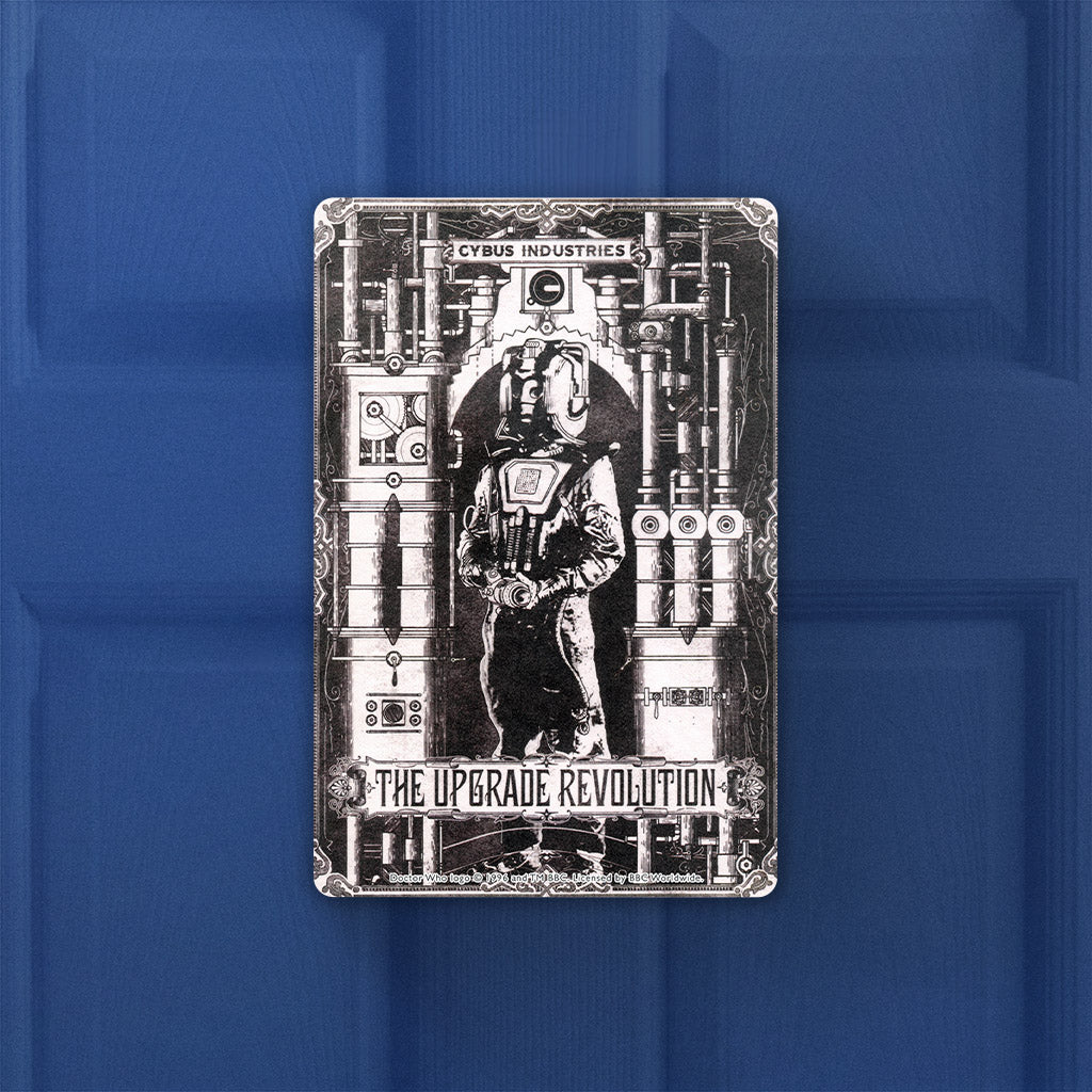 Cyberman 'THE UPGRADE REVOLUTION' Door Plaque (Lifestyle)