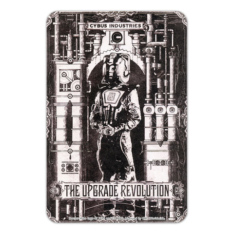 Cyberman 'THE UPGRADE REVOLUTION' Door Plaque