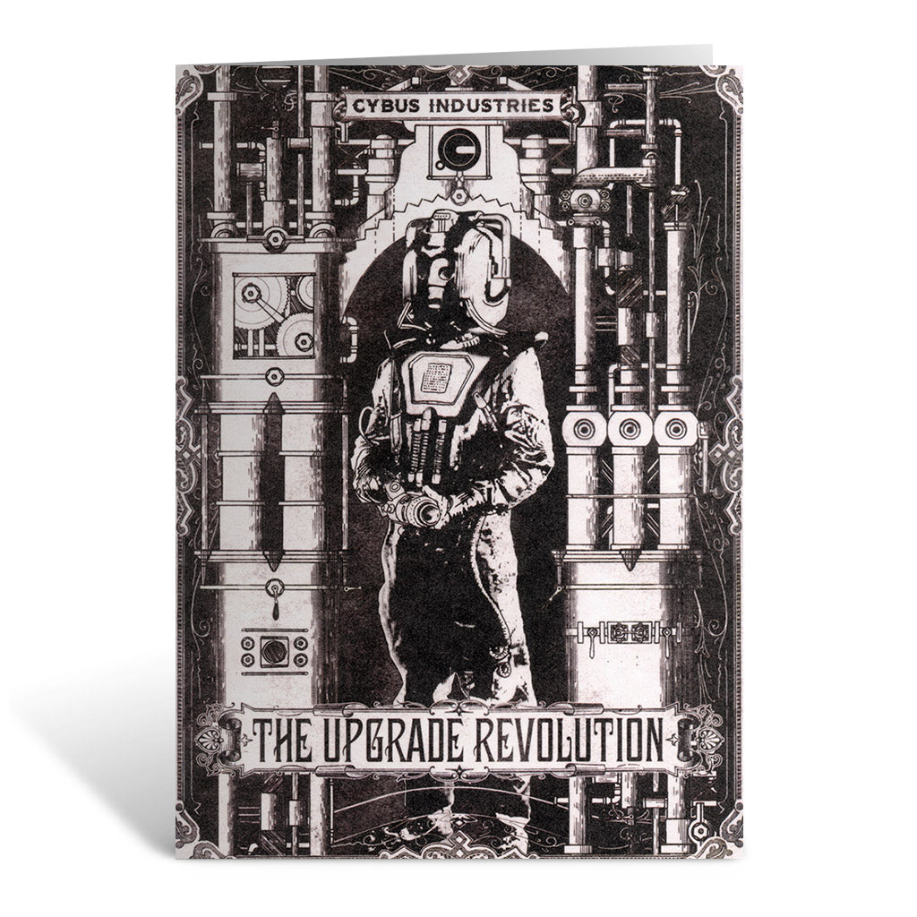 Cyberman 'THE UPGRADE REVOLUTION' Greeting Card