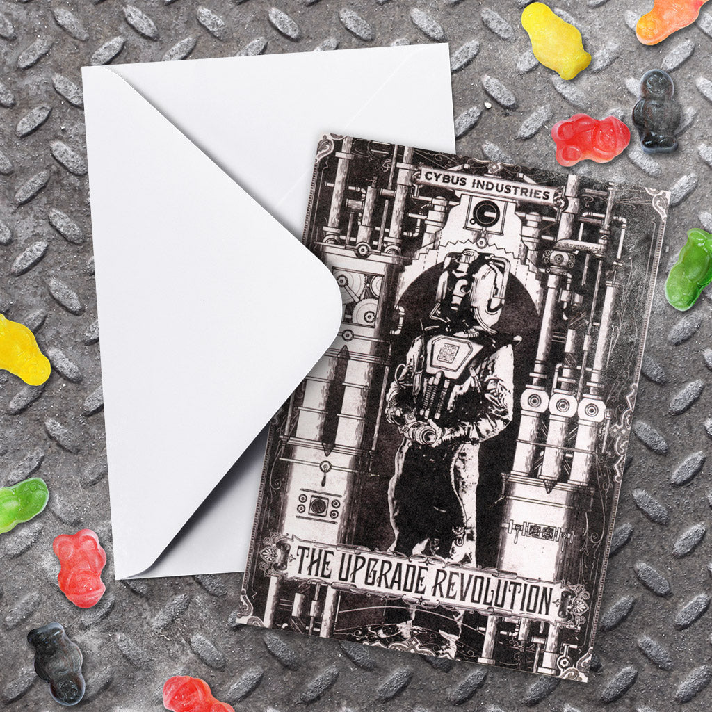 Cyberman 'THE UPGRADE REVOLUTION' Greeting Card (Lifestyle)