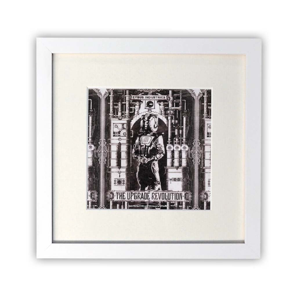 Cyberman 'THE UPGRADE REVOLUTION' Square White Framed Print