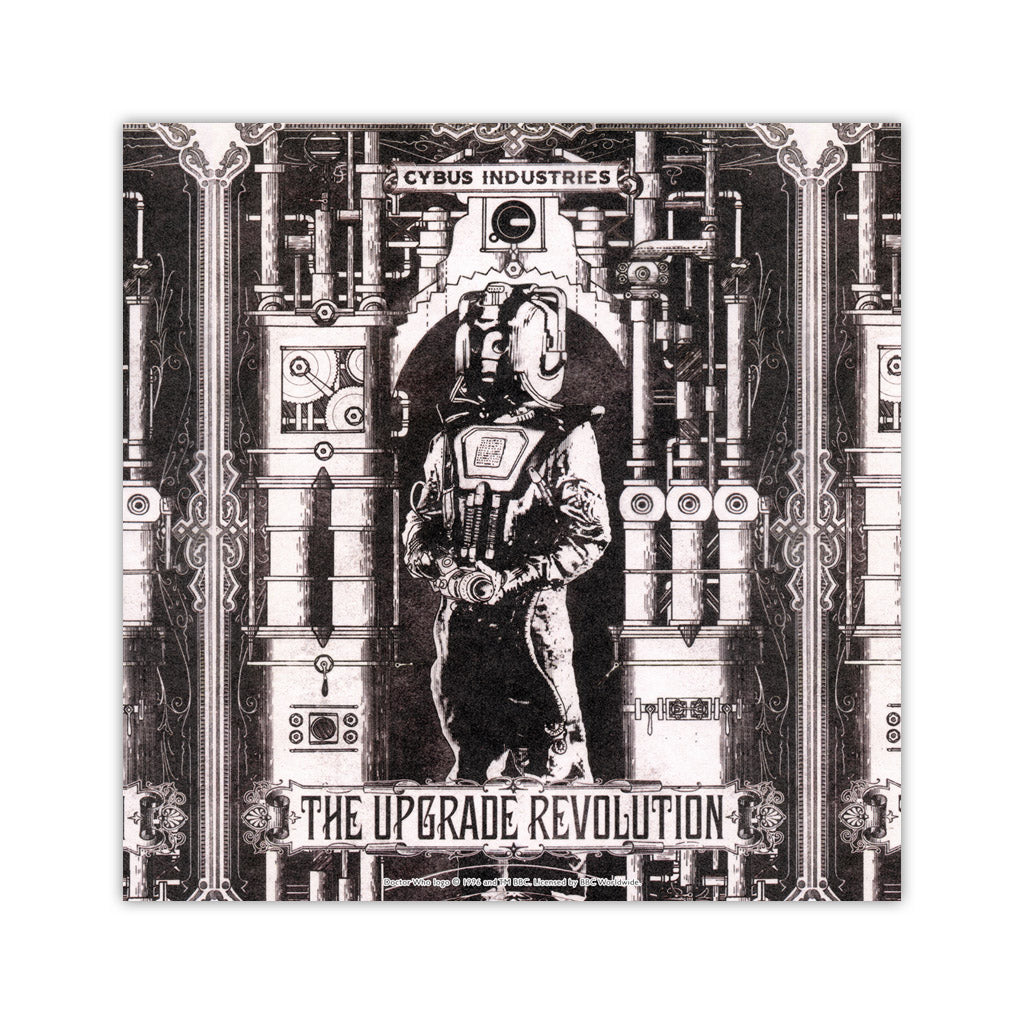 Cyberman 'THE UPGRADE REVOLUTION' Square Art Print