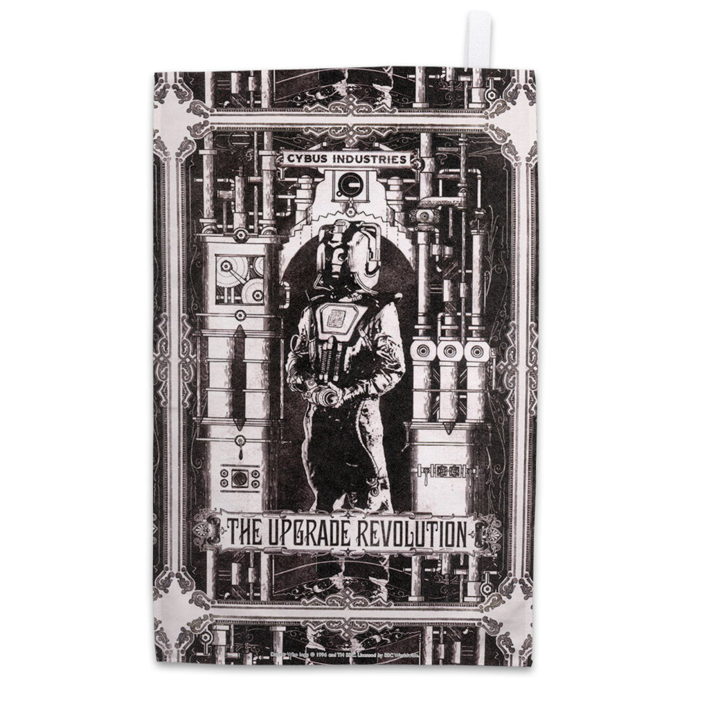 Cyberman 'THE UPGRADE REVOLUTION' Tea Towel