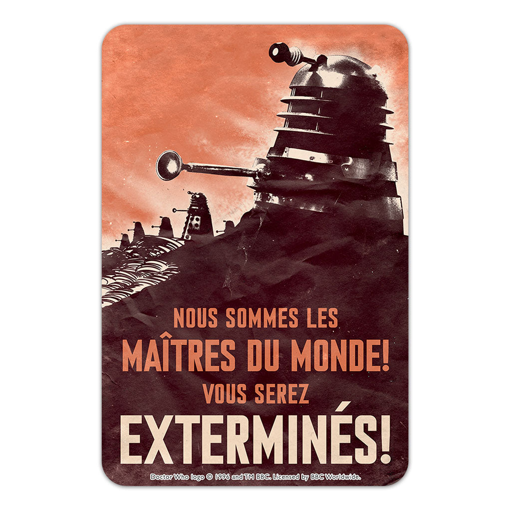 Dalek 'EXTERMINES!' Door Plaque