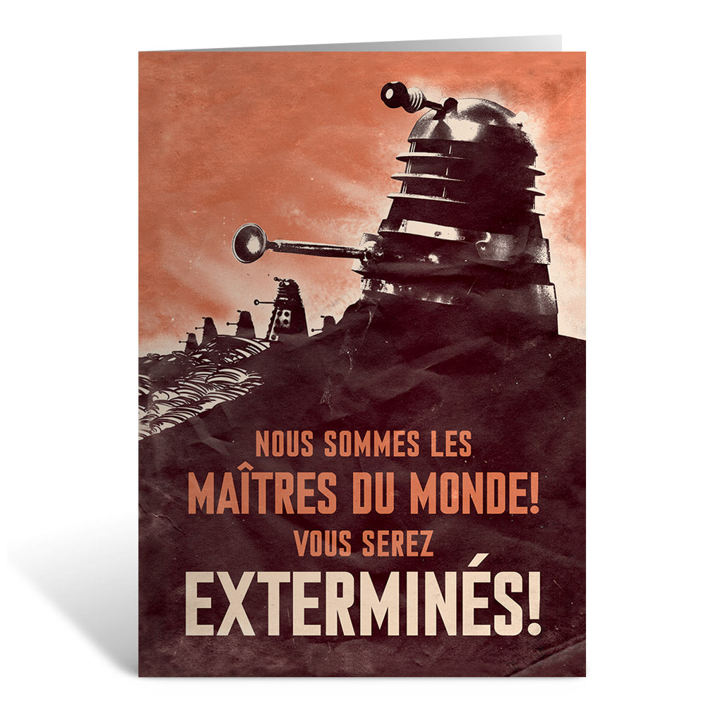 Dalek 'EXTERMINES!' Greeting Card