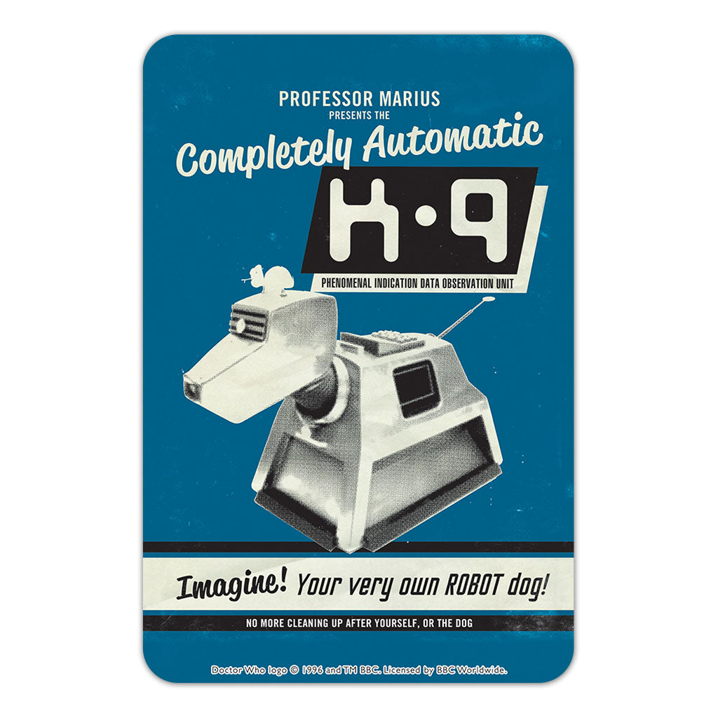 K9 'Your Very Own Robot Dog!' Door Plaque