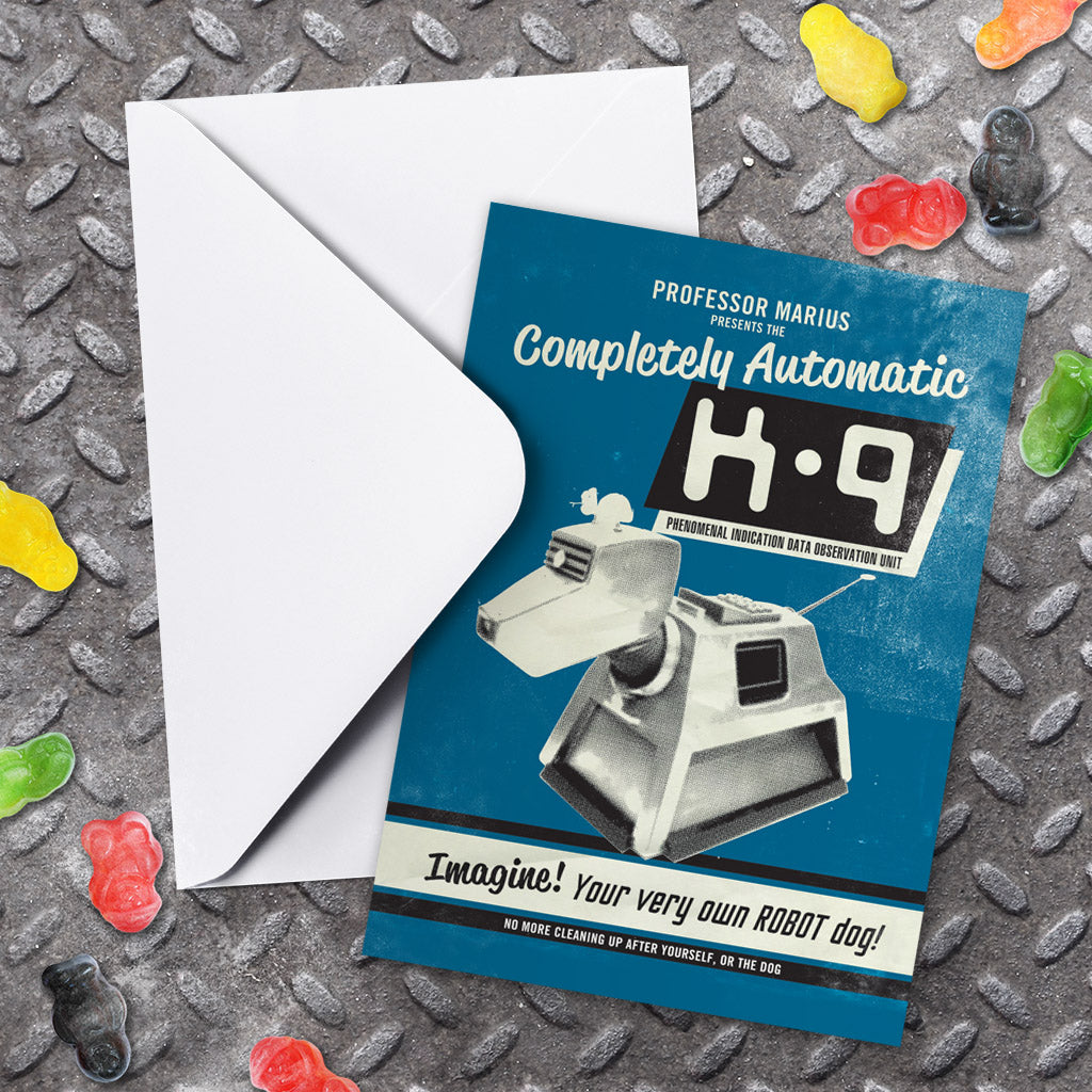K9 'Your Very Own Robot Dog!' Greeting Card (Lifestyle)