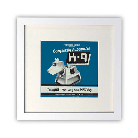 K9 'Your Very Own Robot Dog!' Square White Framed Print