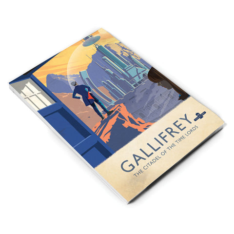 Gallifrey Travel Poster A5 Notepad