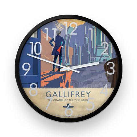 Gallifrey Travel Poster Clock