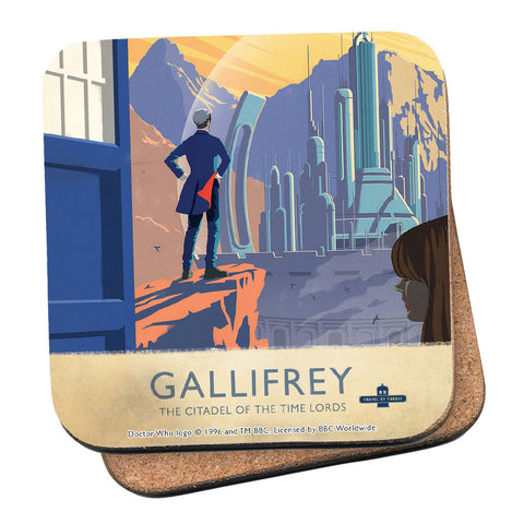 Gallifrey Travel Poster Coaster