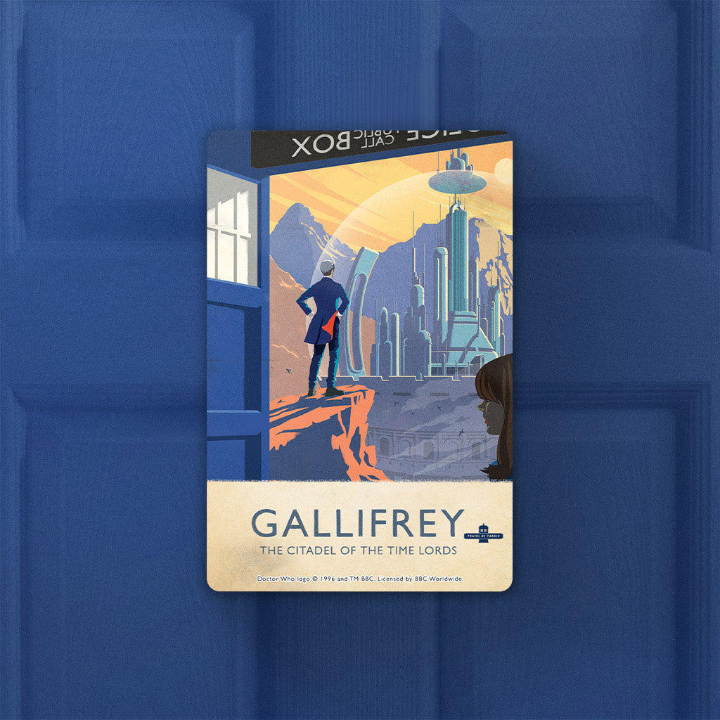 Gallifrey Travel Poster Door Plaque