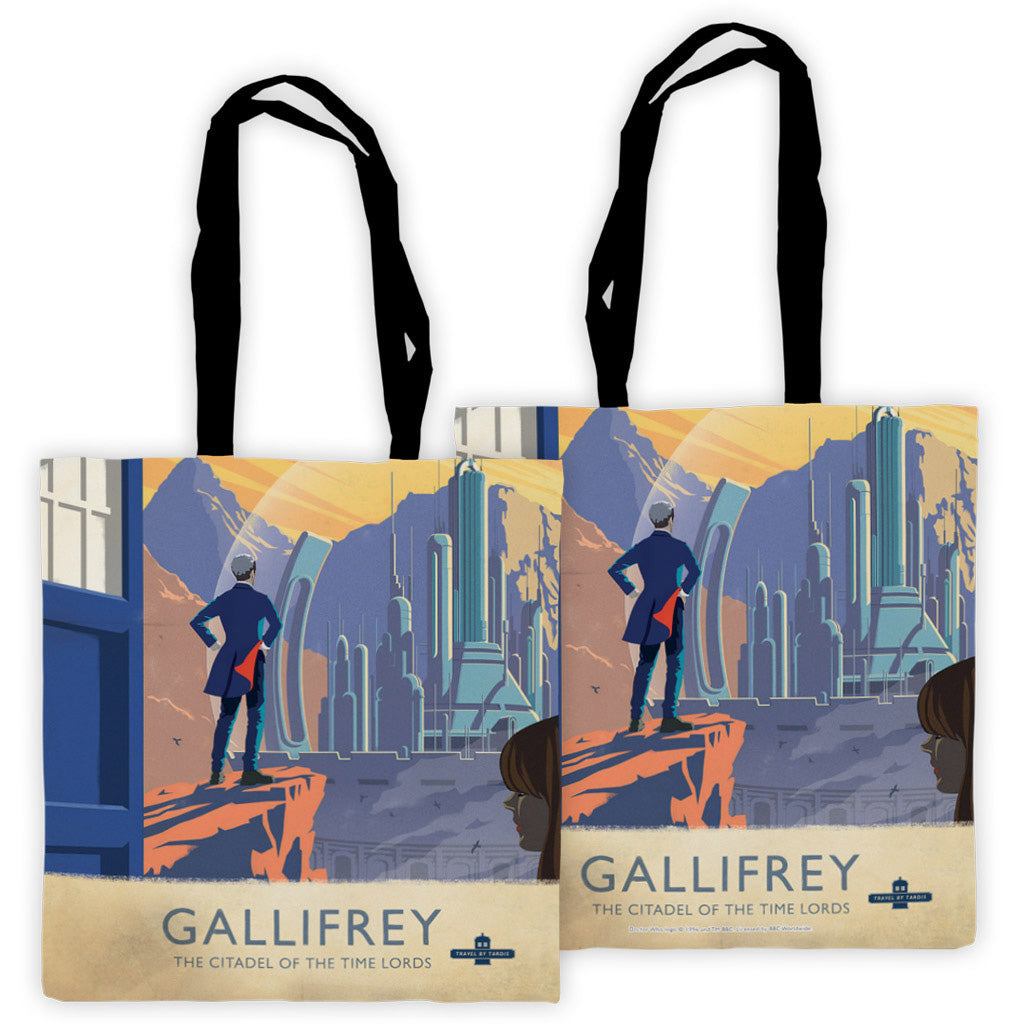 Gallifrey Travel Poster Edge to Edge Tote
