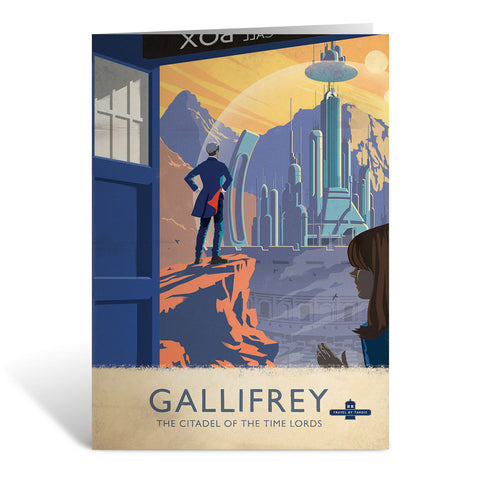 Gallifrey Travel Poster Greeting Card