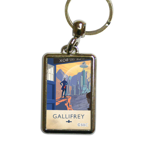 Gallifrey Travel Poster Metal Keyring