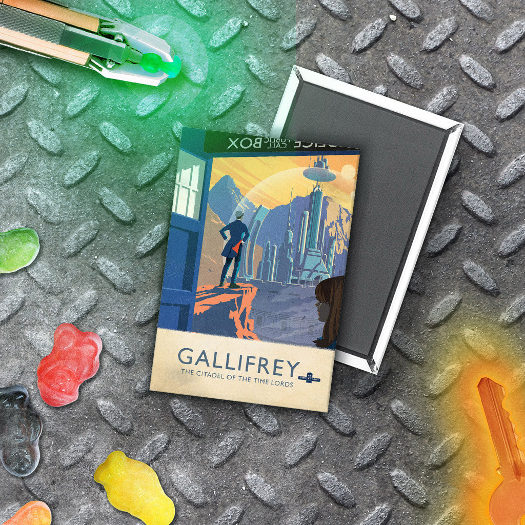 Gallifrey Travel Poster Magnet