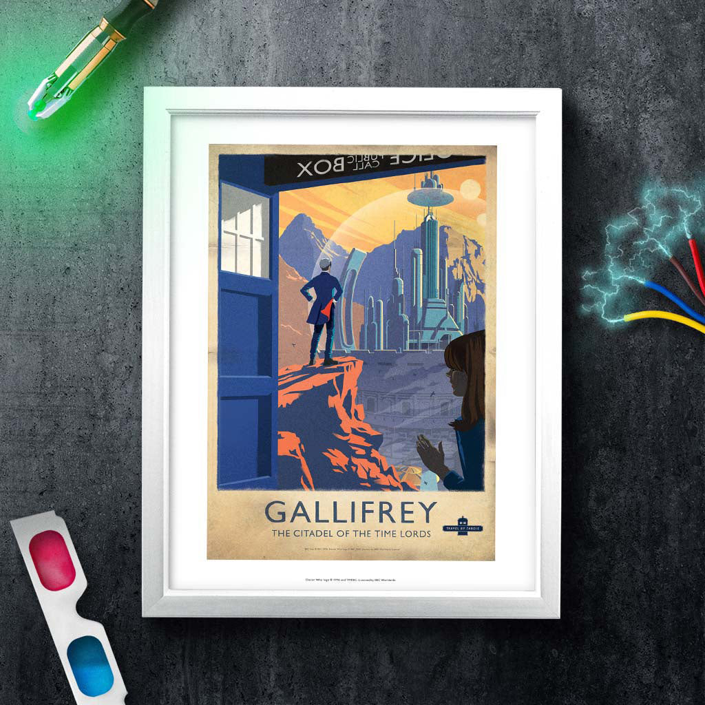 Gallifrey Travel Poster Art Print