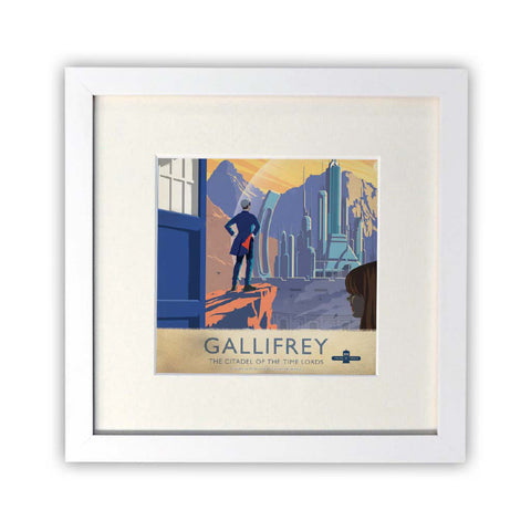 Gallifrey Travel Poster Square Art Print