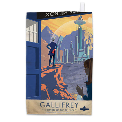 Gallifrey Travel Poster Tea Towel