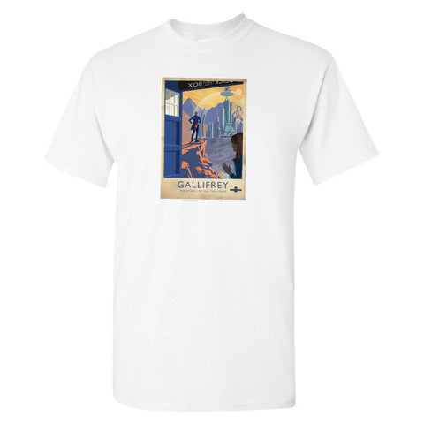 Gallifrey Travel Poster T-Shirt
