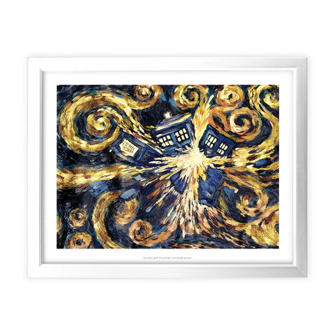 Van Gogh - The Pandoric Opens White Framed Art Print