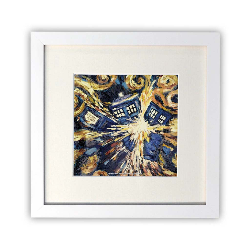 Van Gogh - The Pandoric Opens Square White Framed Print