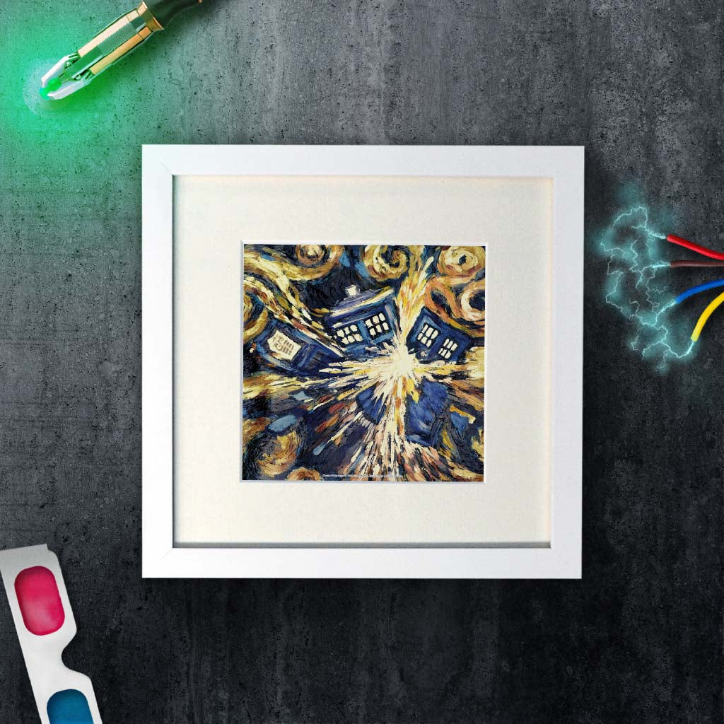 Van Gogh - The Pandoric Opens Square White Framed Art Print (Lifestyle)