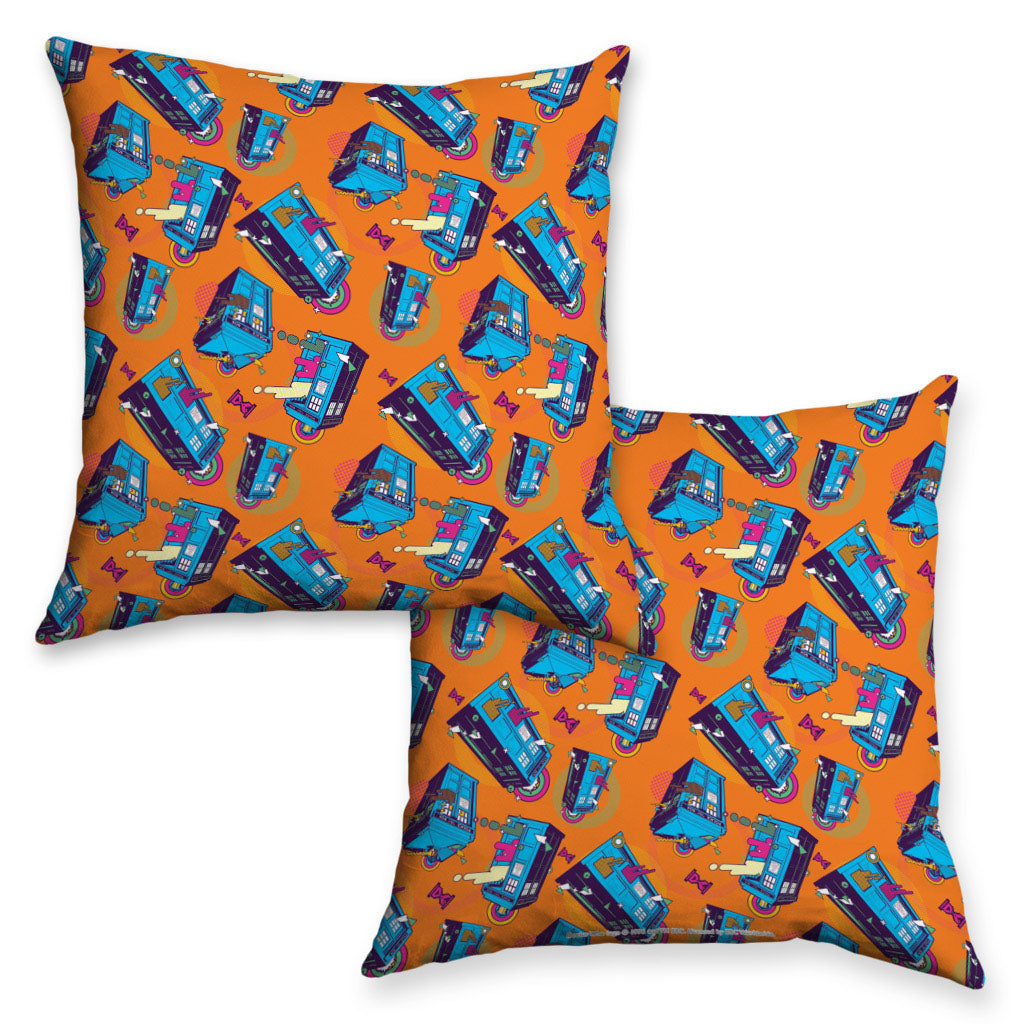 Gridlock TARDIS Cushion Orange