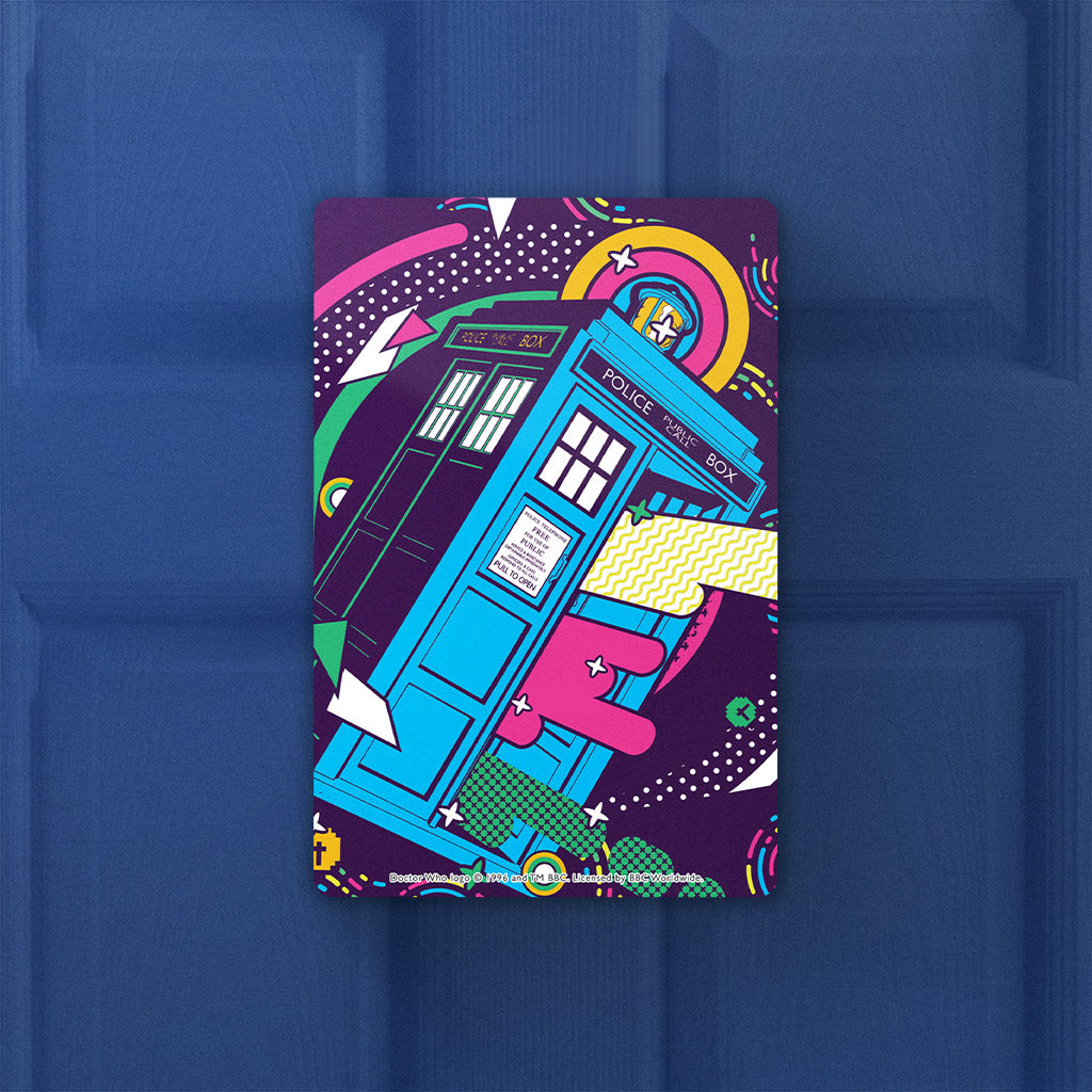 Gridlock Tardis Door Plaque (Lifestyle)
