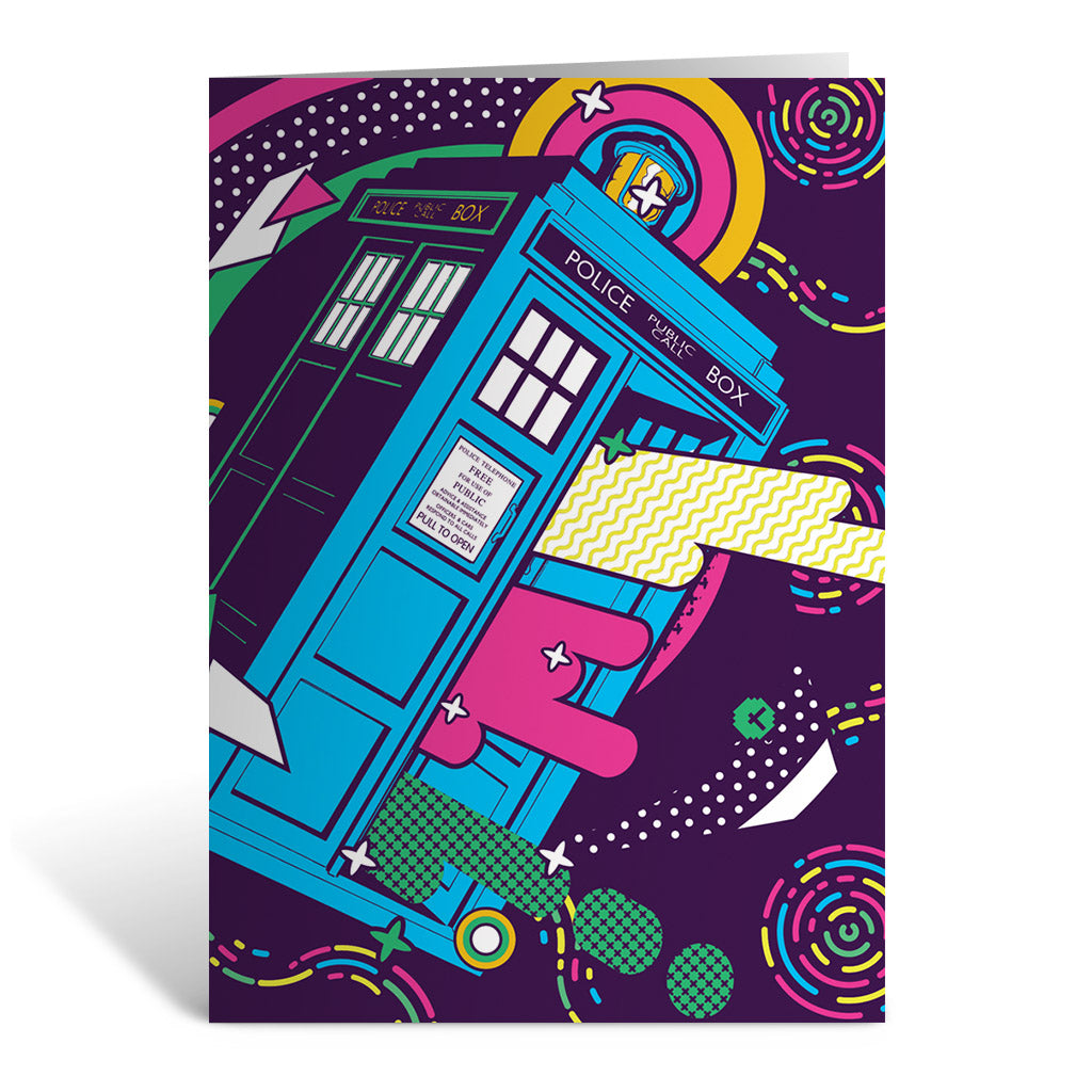 Gridlock Tardis Greeting Card
