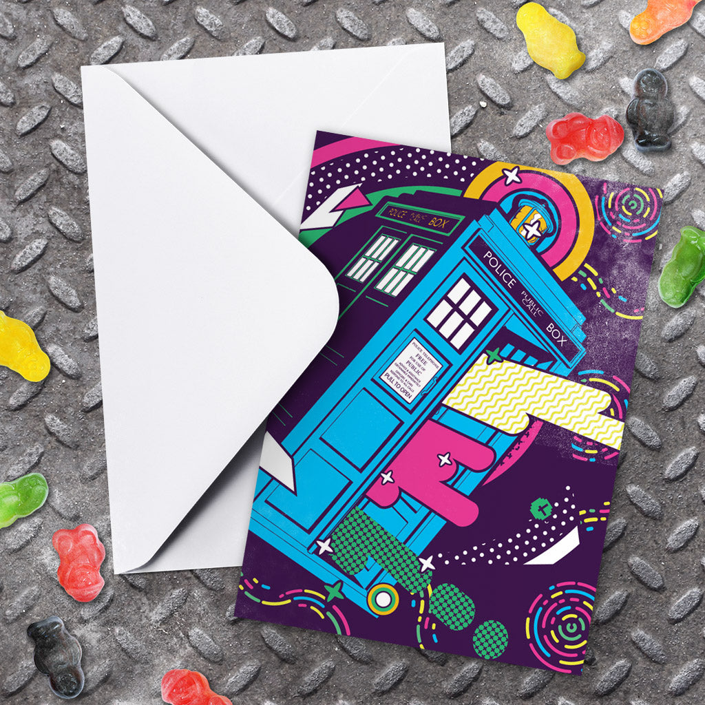 Gridlock Tardis Greeting Card (Lifestyle)