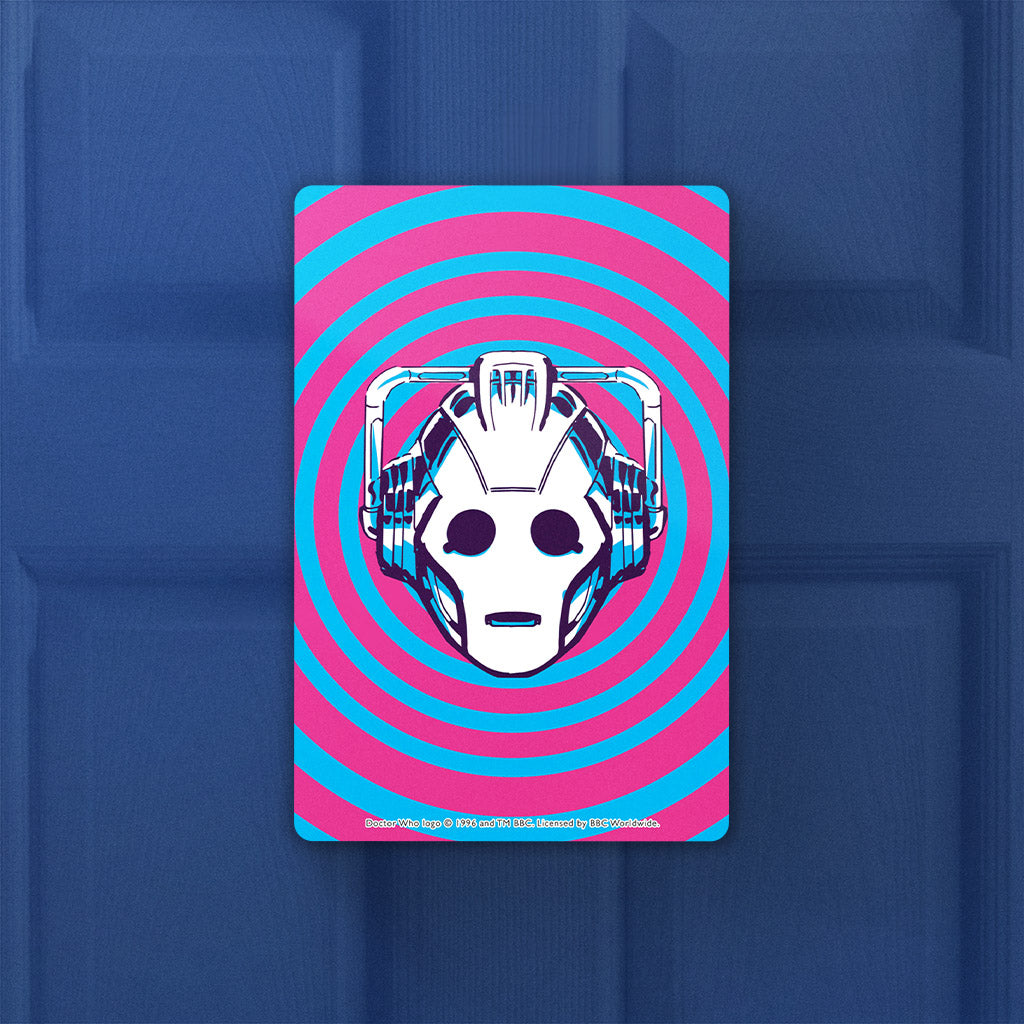 Gridlock Cyberman Door Plaque (Lifestyle)