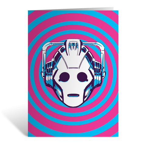 Gridlock Cyberman Greeting Card