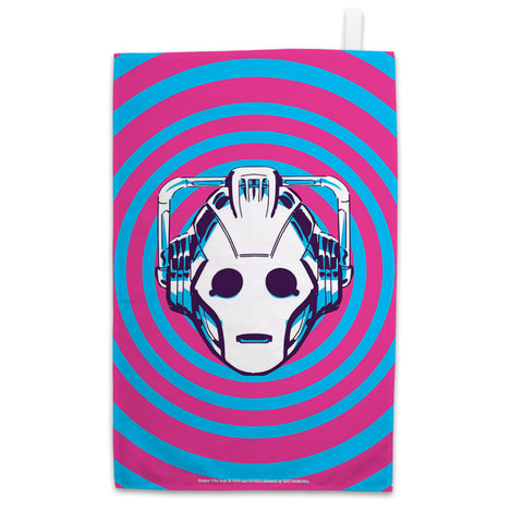 Gridlock Cyberman Tea Towel