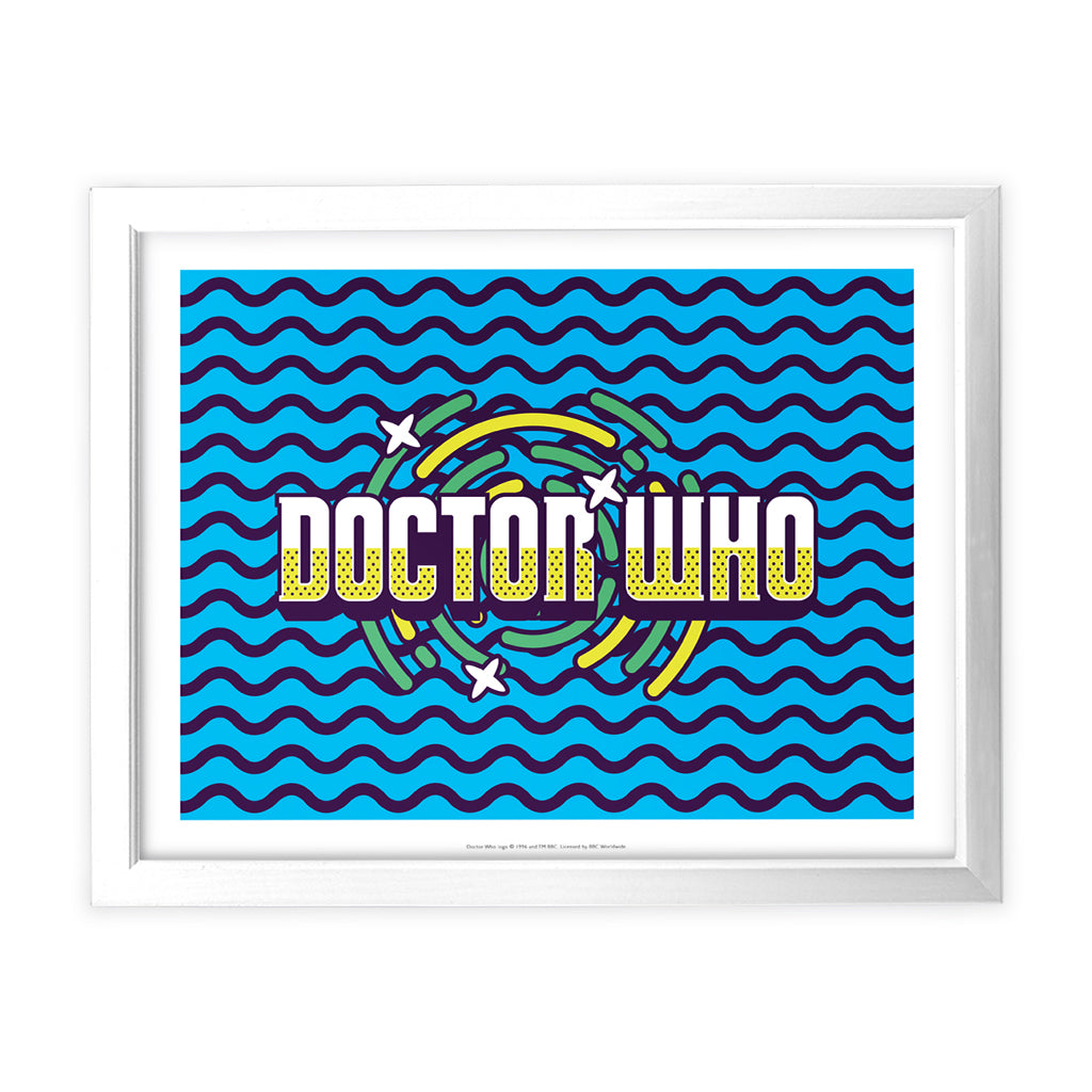 Gridlock Doctor Who White Framed Art Print