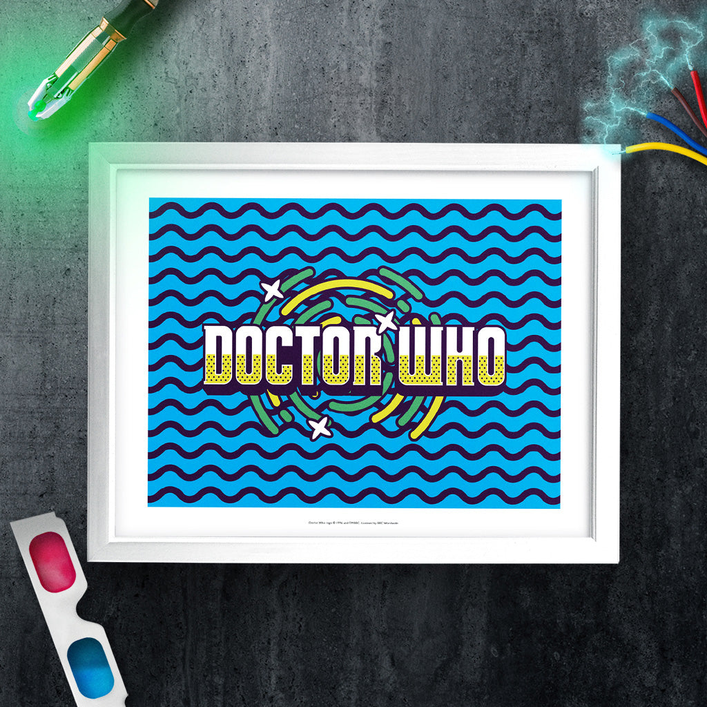 Gridlock Doctor Who White Framed Art Print (Lifestyle)