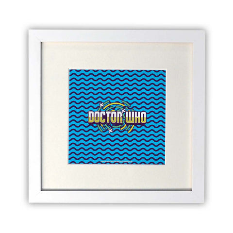 Gridlock Doctor Who Square White Framed Print