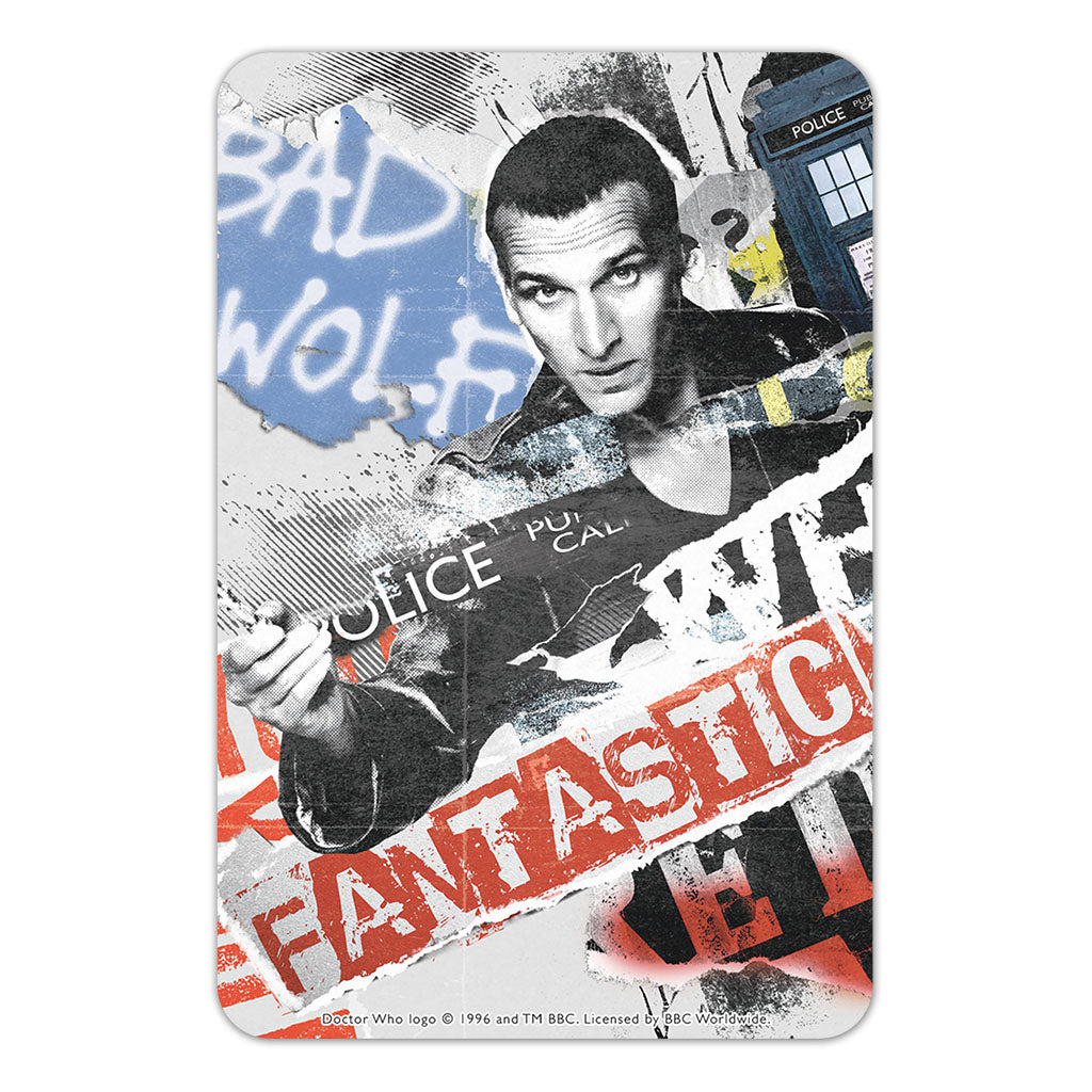 Ninth Doctor Collage Door Plaque