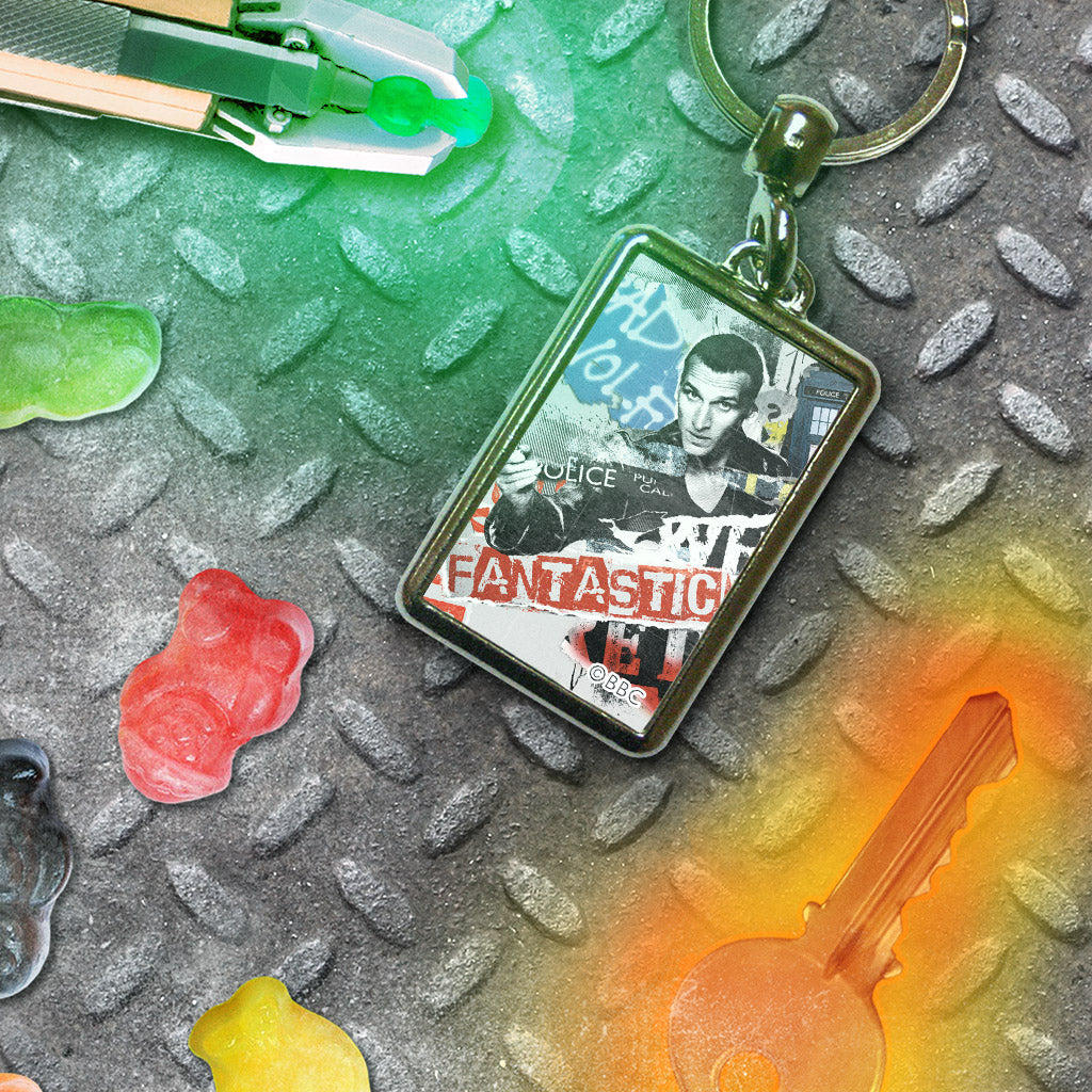 Ninth Doctor Collage Metal Keyring (Lifestyle)