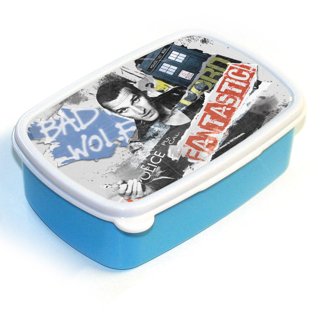 Ninth Doctor Collage Lunchbox