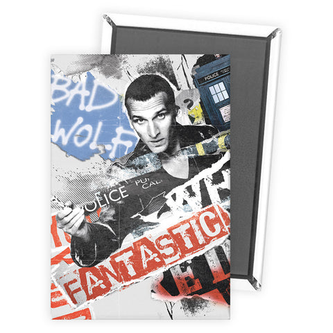 Ninth Doctor Collage Magnet