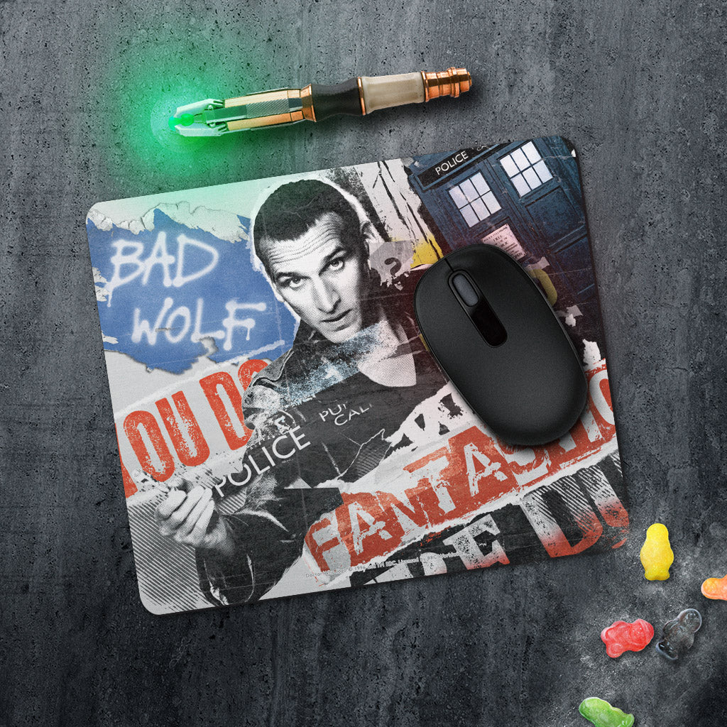 Ninth Doctor Collage Mousemat (Lifestyle)
