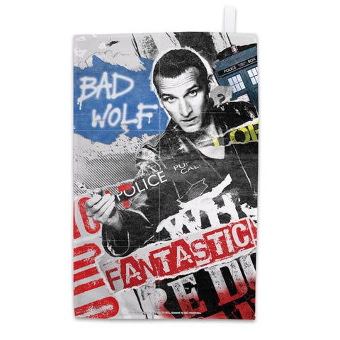 Ninth Doctor Collage Tea Towel