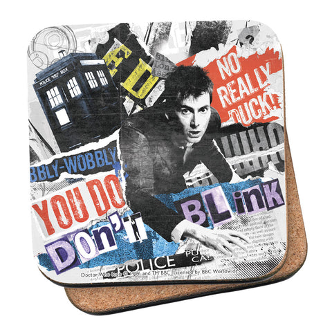 Tenth Doctor Collage Coaster