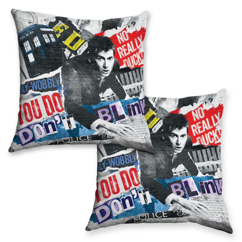Tenth Doctor Collage Cushion